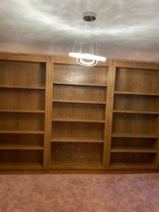 There's a secret room hidden behind this bookcase.
